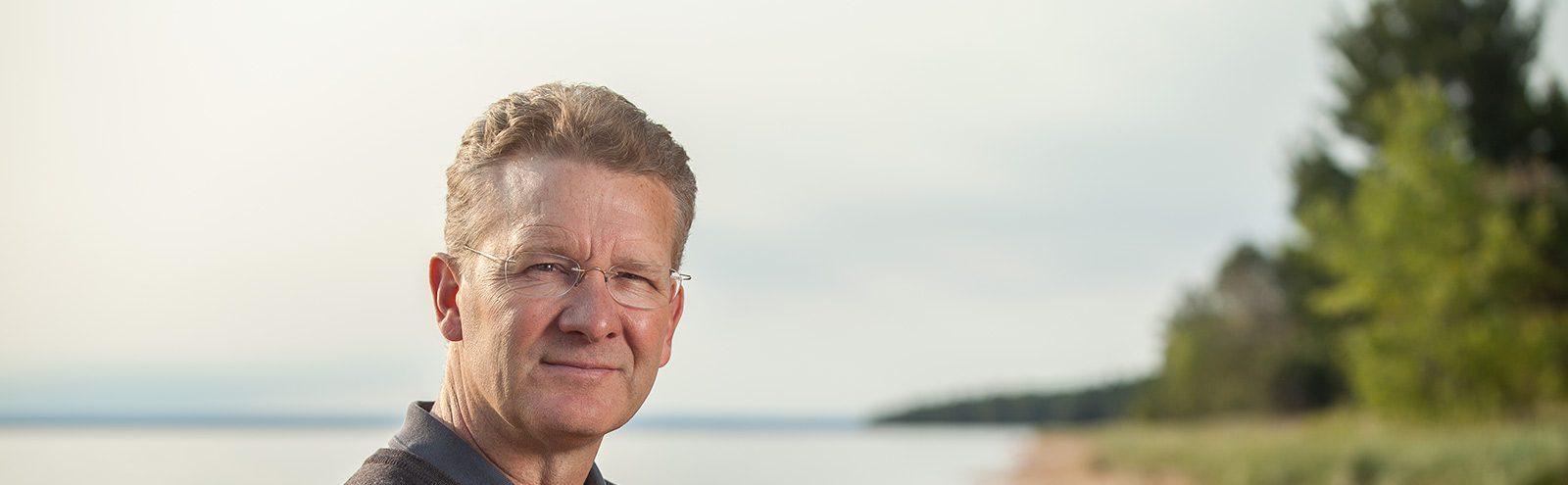 Peter Annin at beach
