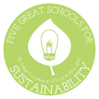 5 great schools for sustainability infographic