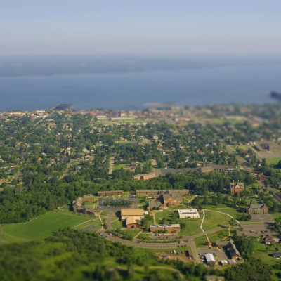 Arial view of Northland campus