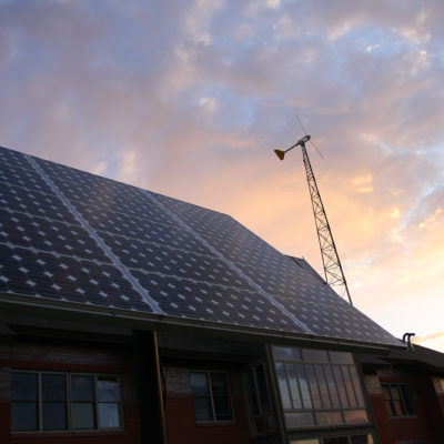Solar panels at ELLC residence hall