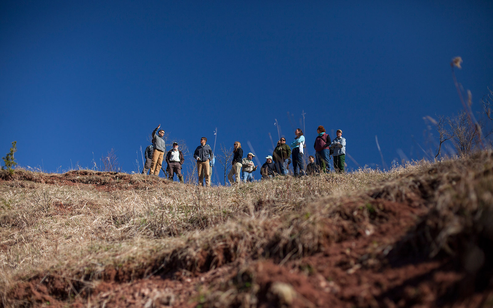 Group on the bluff