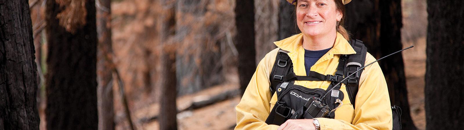 Alumna wilderness fire chief