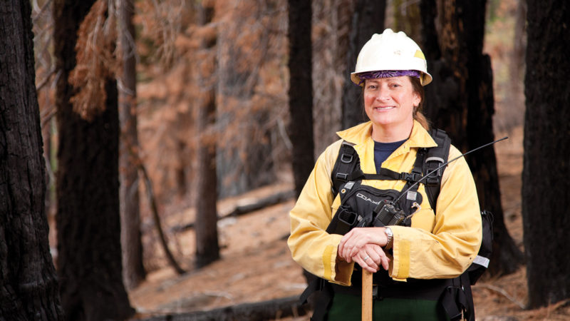 Alumna wilderness fire chief