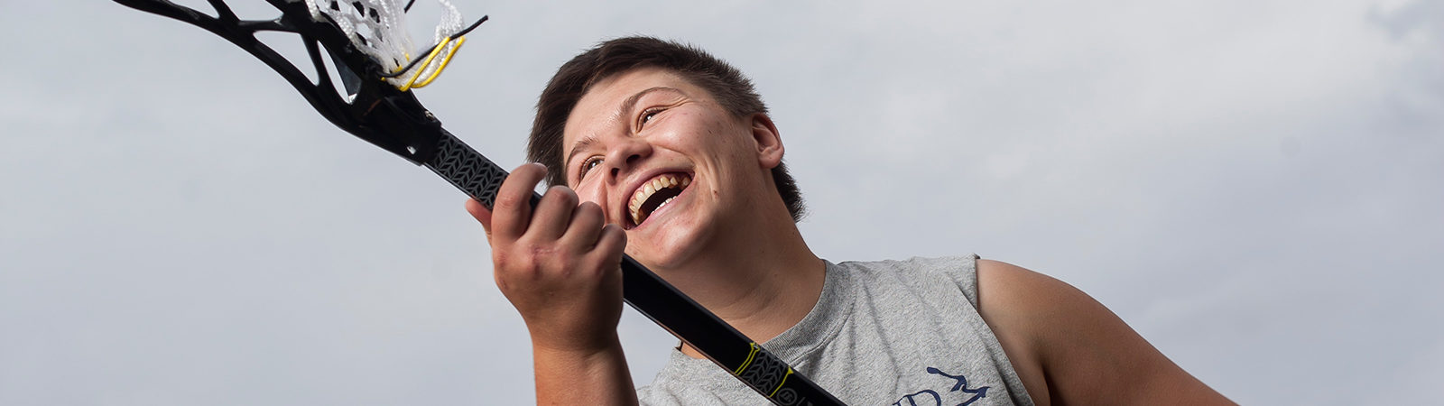 Northland student playing lacrosse.