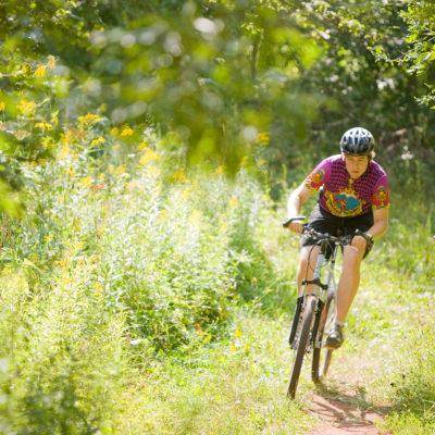 Mountain biking on the trails