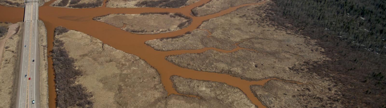 Muddy fish creek watershed