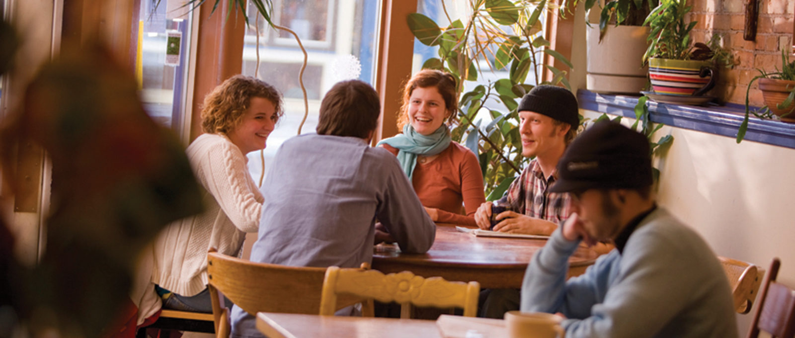 Students at Black Cat Coffeehouse