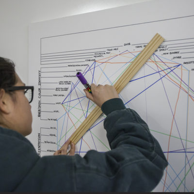 Student making her mark on the diversity wheel