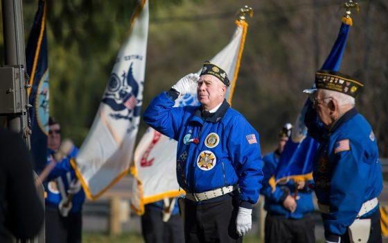 veteran flag ceremony