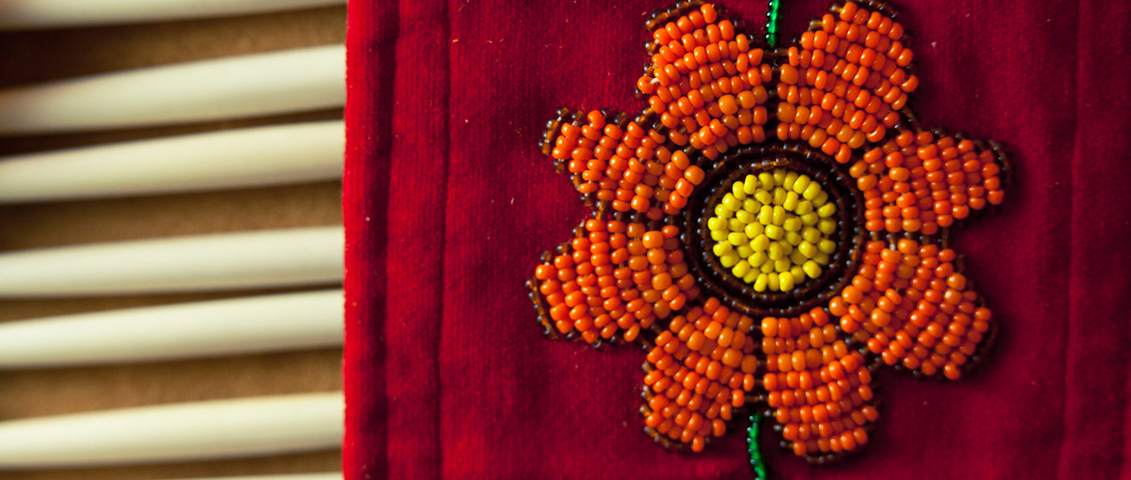Native American bead cloth