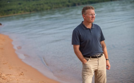 Peter Annin on beach