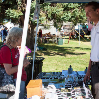 NIck Smith at booth at Loon Days