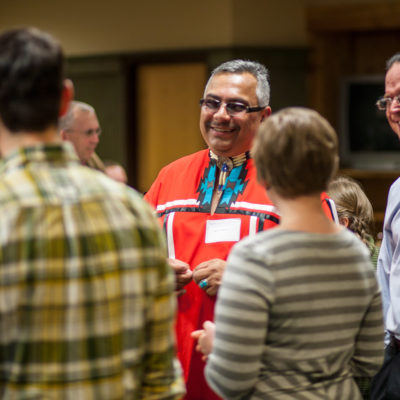Group of Northland College Native American alumni talking