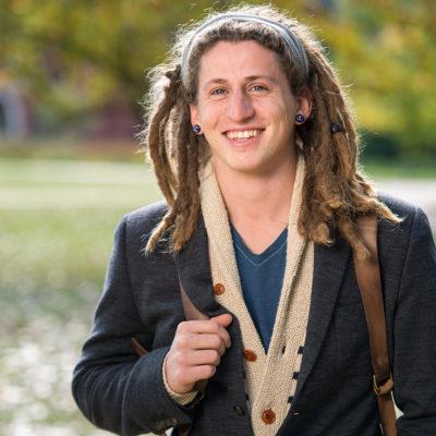 Portrait of Northland College student Travis Sherlin