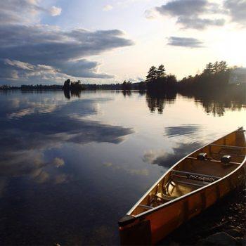 Canoe at Boundary Waters.