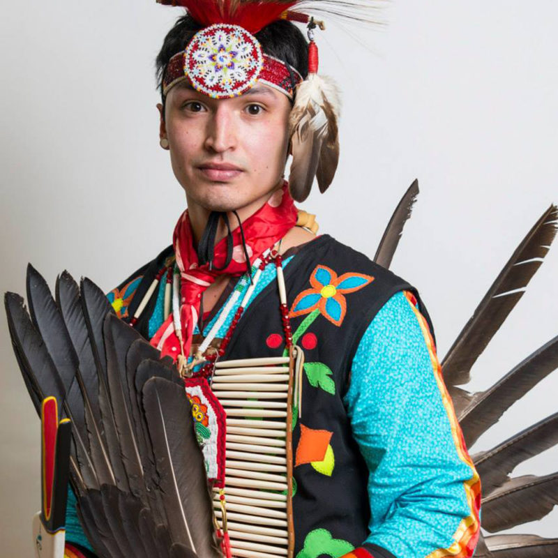Northland College senior at our annual spring powwow.