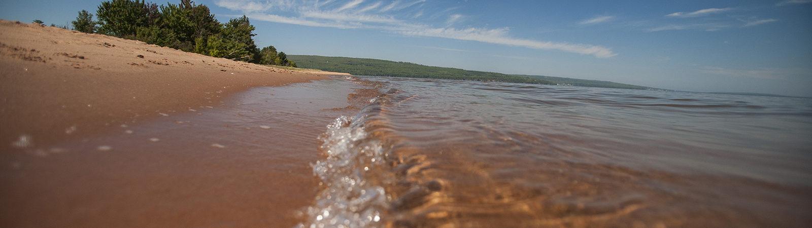 Lake Superior and beach
