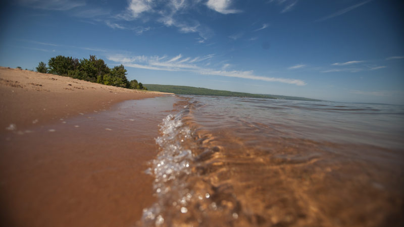 Lake Superior and beach