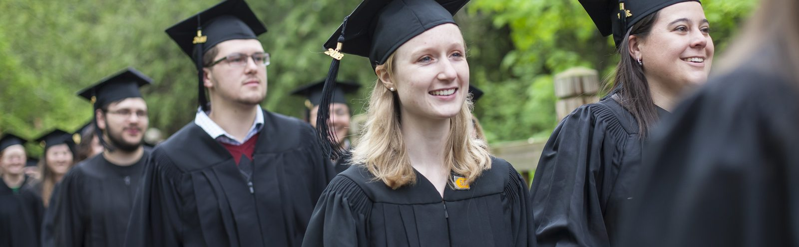 Liz White in cap and gown