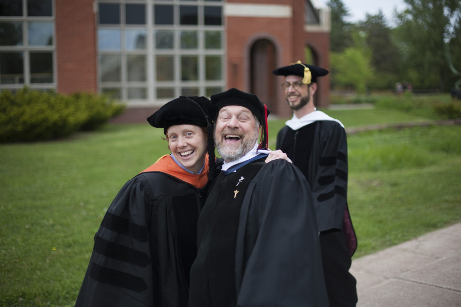 goofing around after commencement