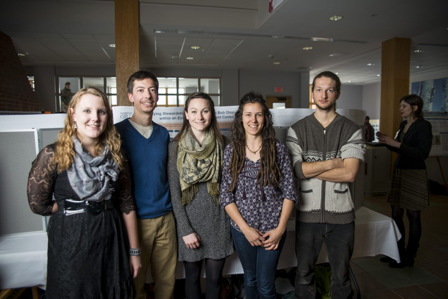 Northland College students at poster presentation