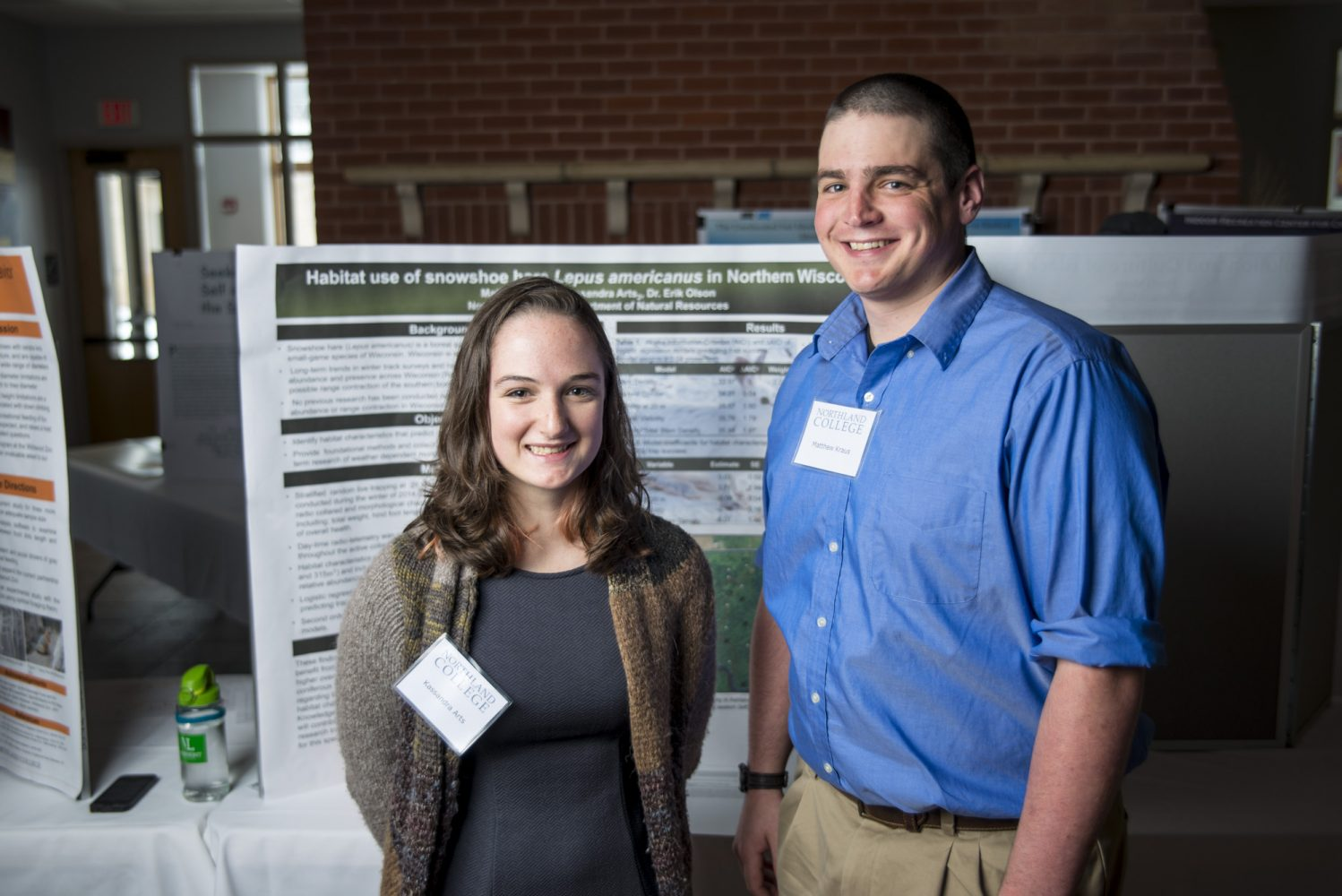 Students at poster session