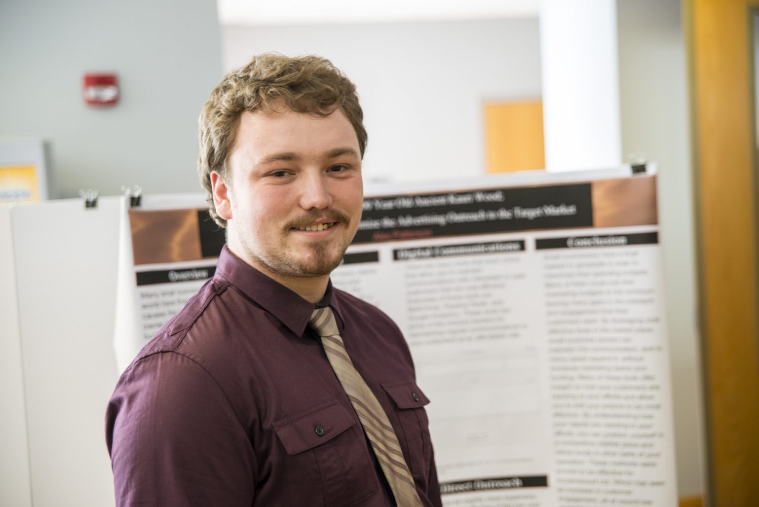 Student at poster session.