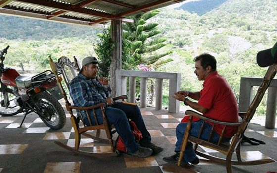 Northland College student Adrian Diaz in Nicaragua