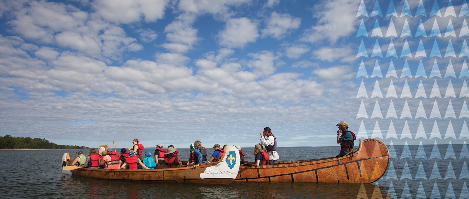 Northland College Superior Connections Voyageur canoe