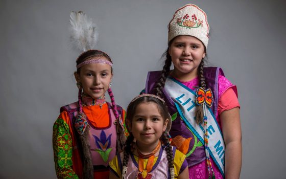 Kids at the spring powwow