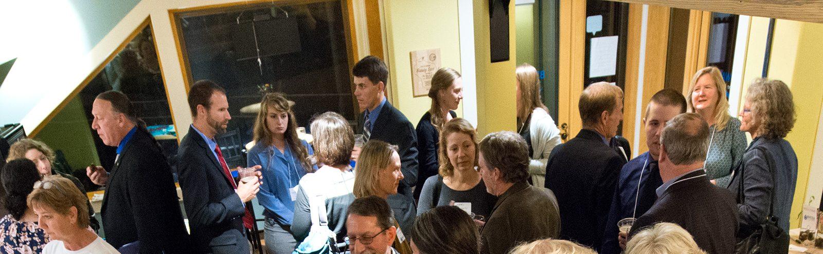 Alumni gathering at Northland College Water Summit