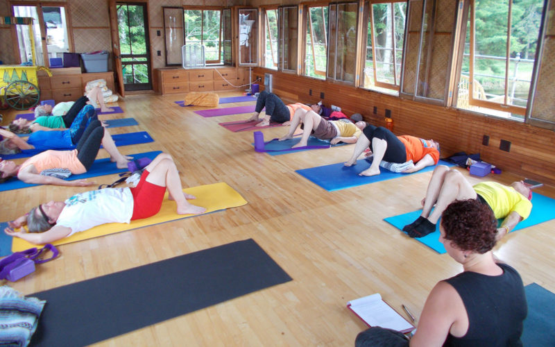 Boathouse Yoga Class at Forest Lodge