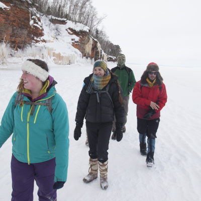Northland College Students at Apostle Island Ice Caves