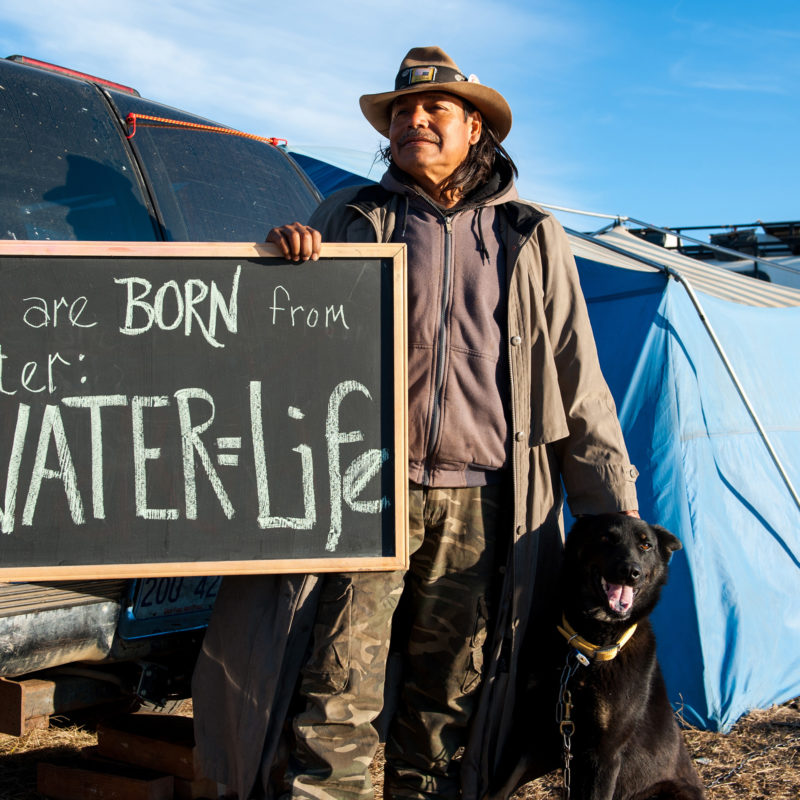 A Words for Water scene from Standing Rock.