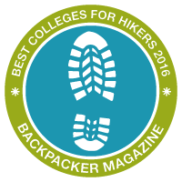 Best Colleges for Hikers, Backpacker Magazine Infographic