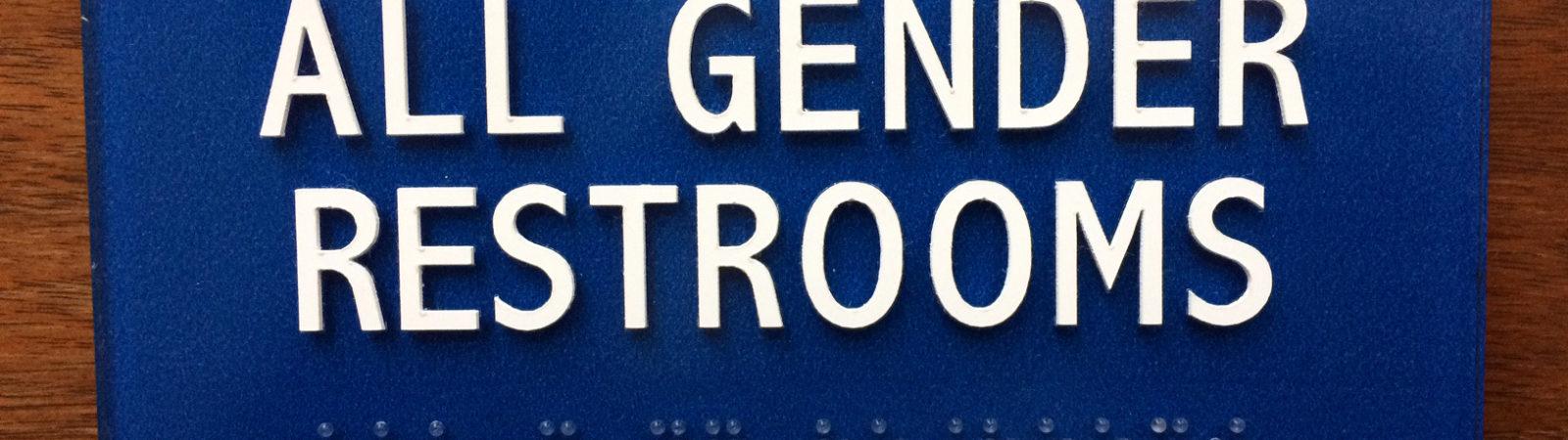 all gender restrooms sign