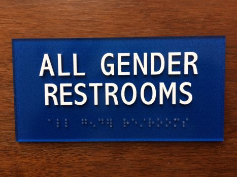 all gender restrooms sign