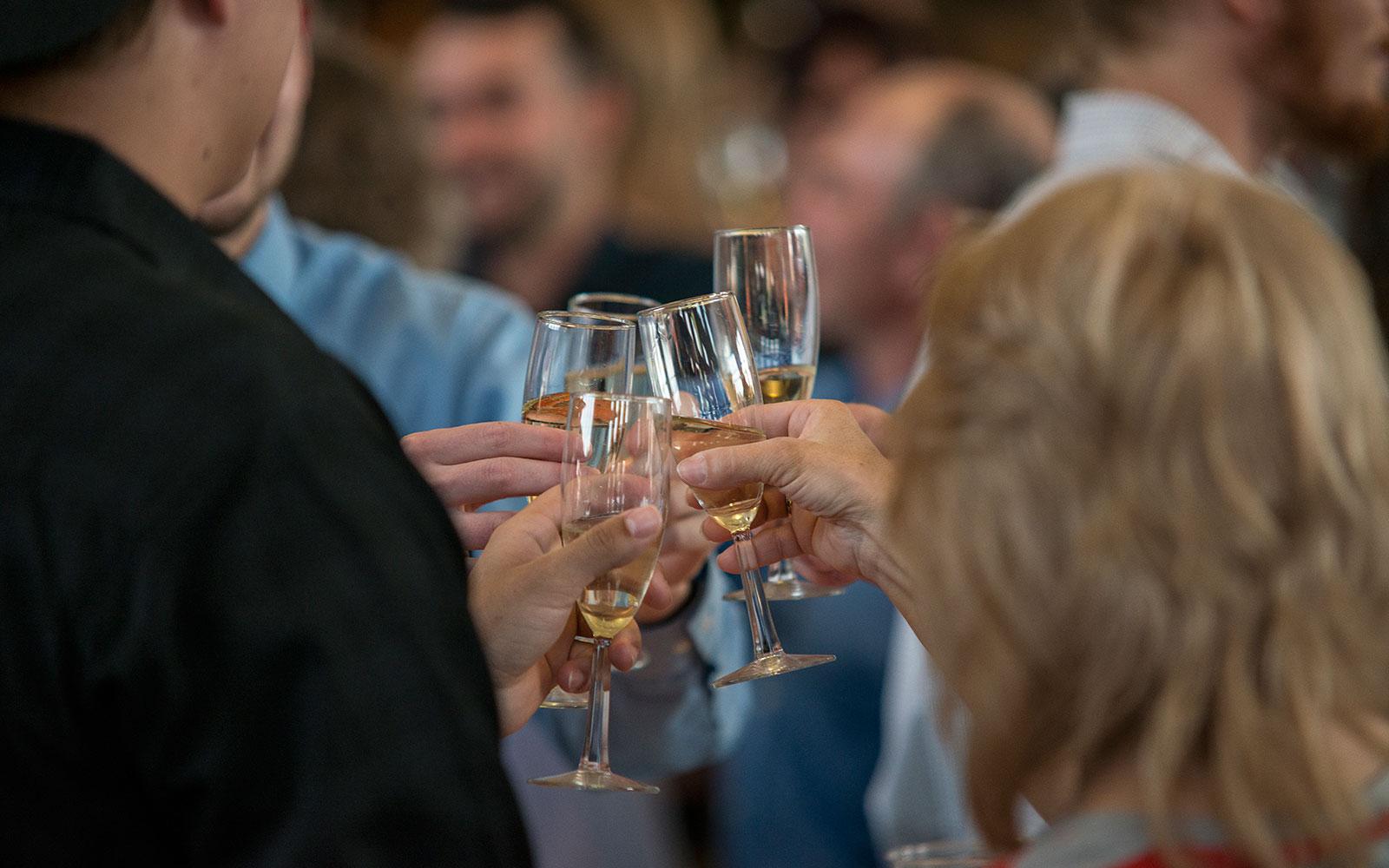 senior champagne toast northland college