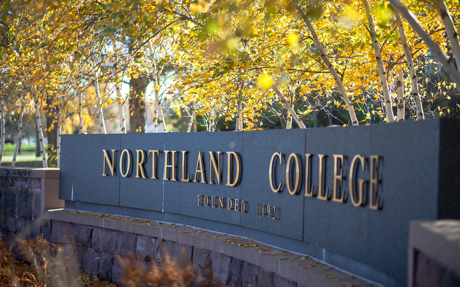 Northland College sign