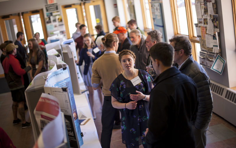 Students display the results of their research accomplishments at the annual Honors Day Poster Session