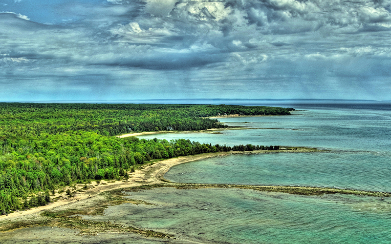 Beaver Island aerial view
