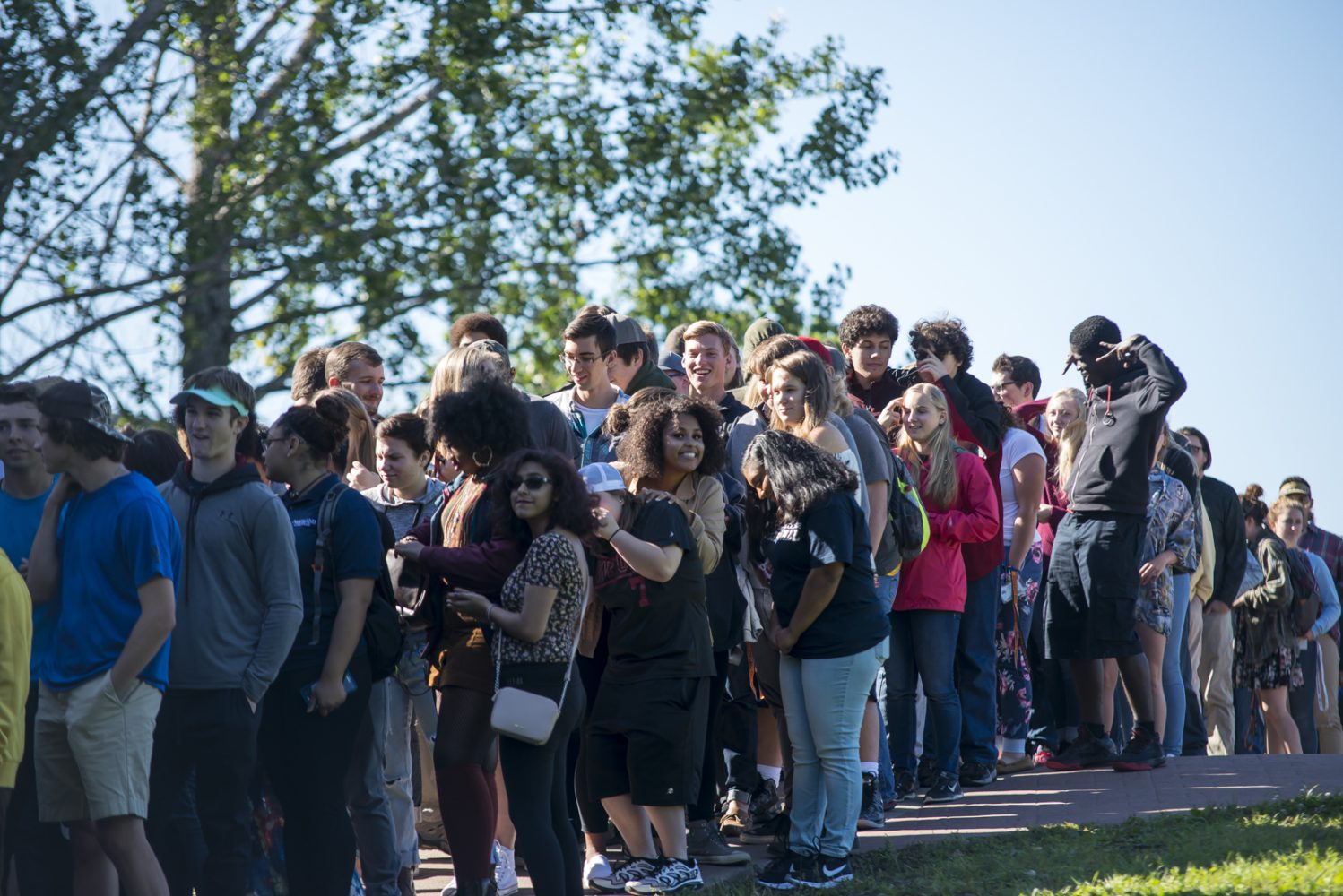 Northland College students line up for convocation