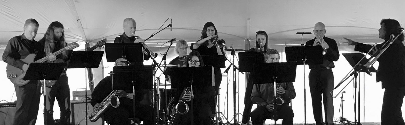 Northland College Jazz played at the WhistleStop marathon