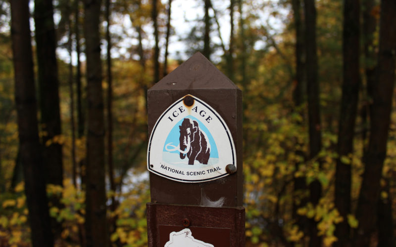 Ice Age Trail marker