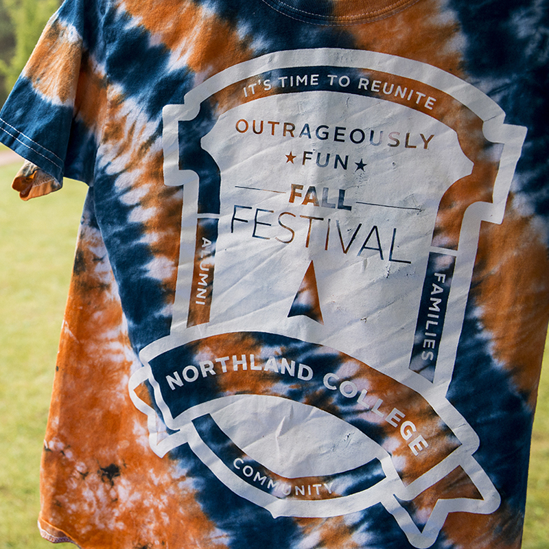 Northland College Fall Fest t-shirt