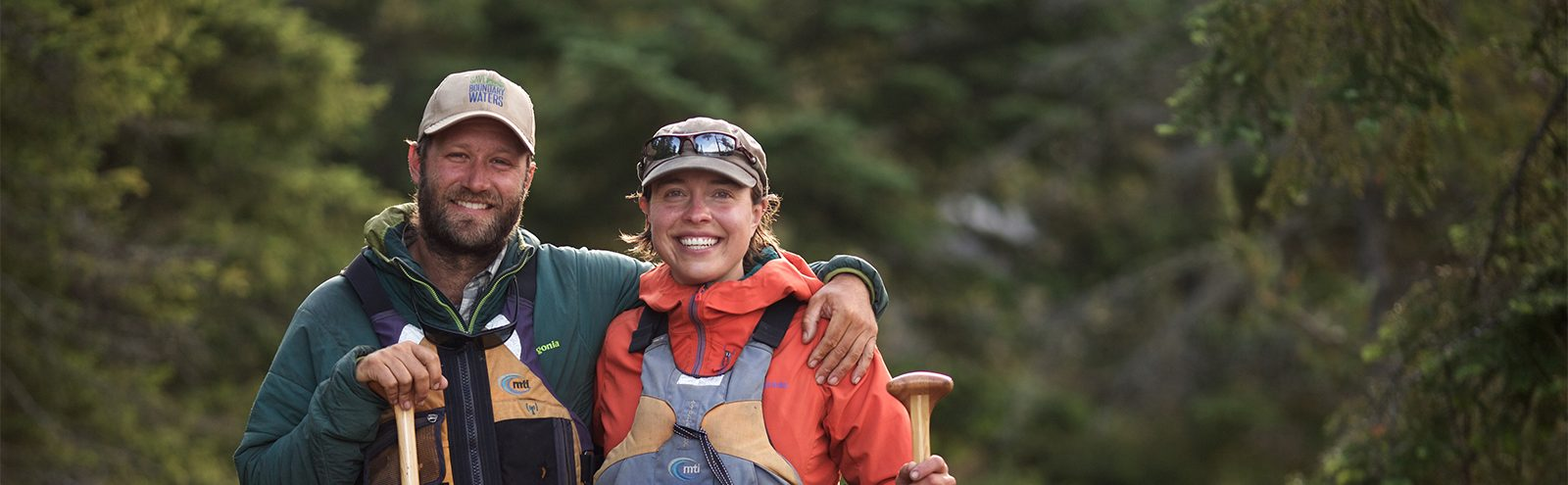 Amy and Dave Freeman during the Year in the Wilderness Expedition