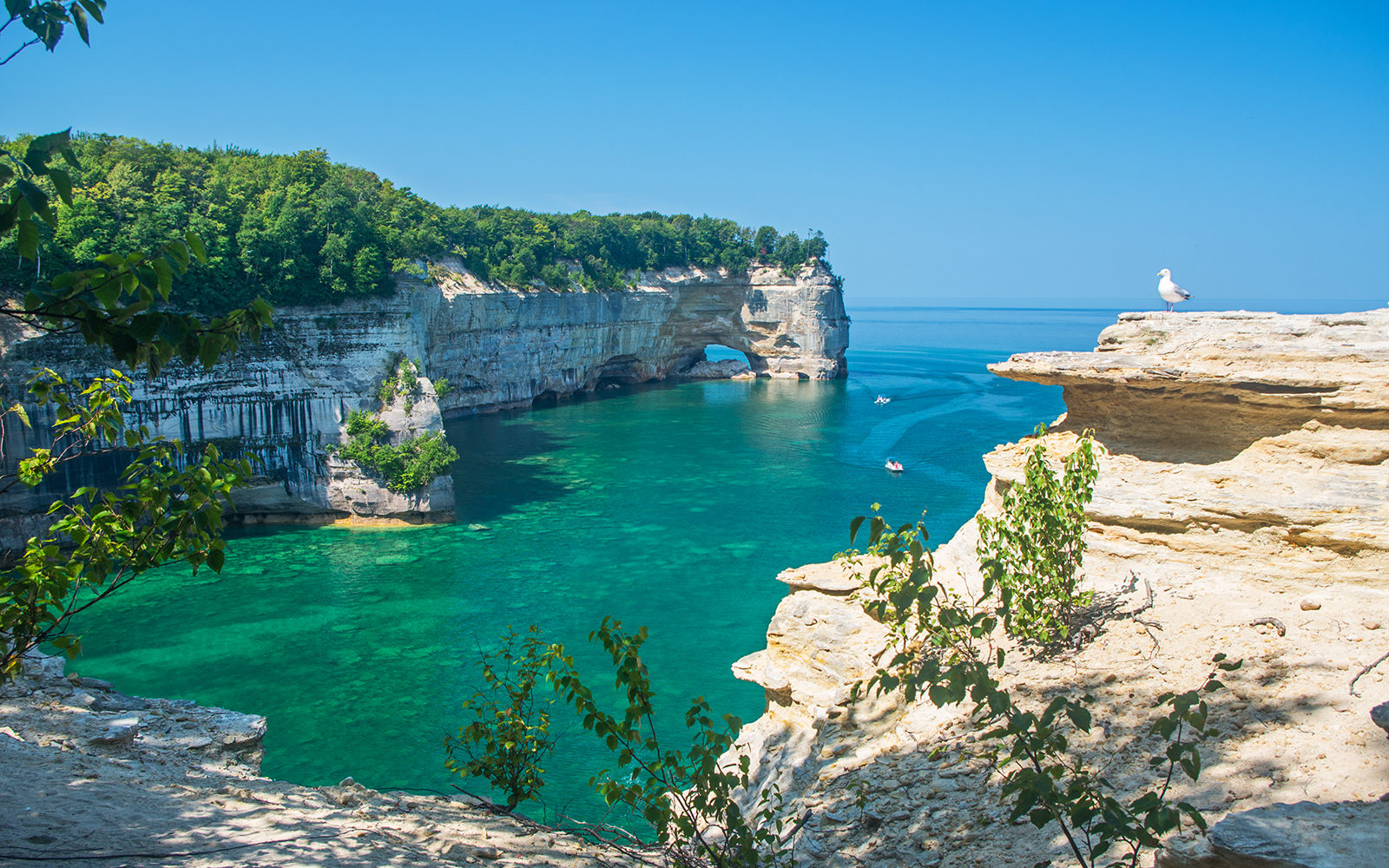Michigan Department of Tourism photo of Pictured Rocks National Park