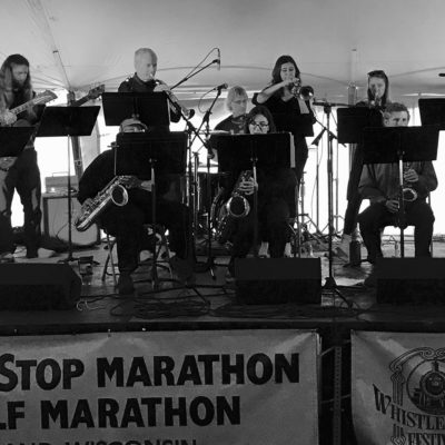 Northland College Jazz plays at the WhistleStop marathon