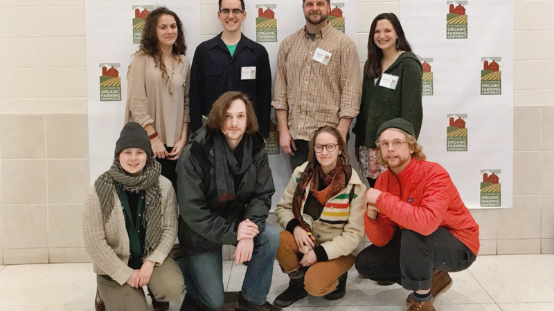 Northland college students at organic farming conference