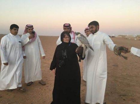 Northland College alumnus Susan Haig in Saudi Arabia